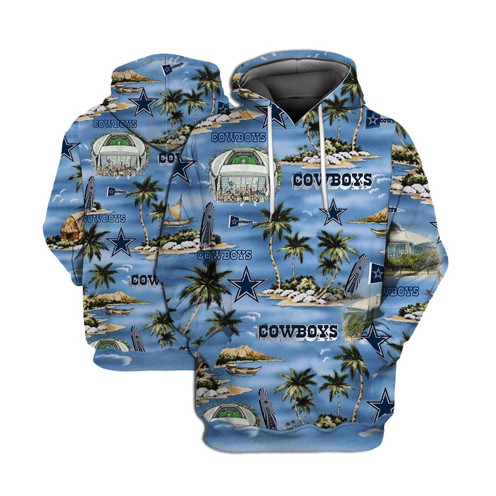 Dallas cowboys all over printed hawaiian hoodie