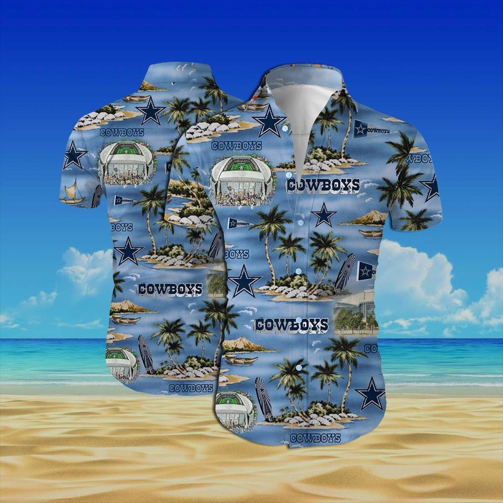 Dallas cowboys all over printed hawaiian shirt 1