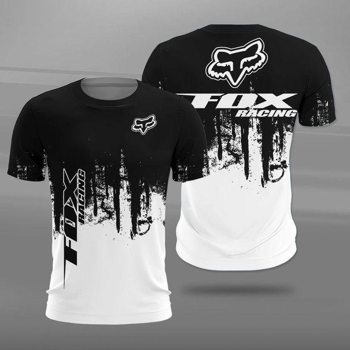Fox racing fox head logo full printing tshirt