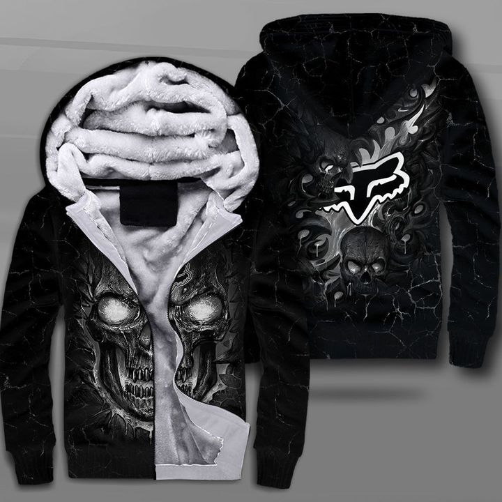Fox racing lava skull full printing fleece hoodie