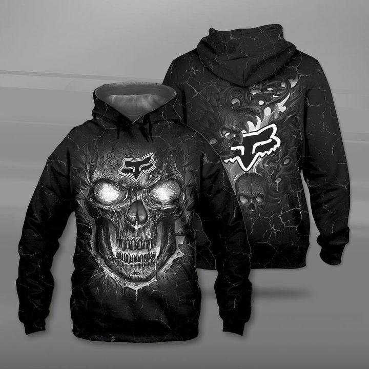 Fox racing lava skull full printing hoodie