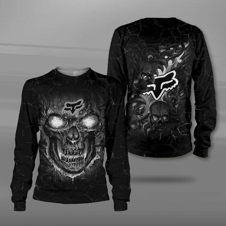 Fox racing lava skull full printing sweatshirt