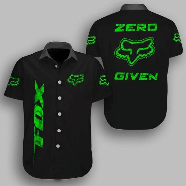 Fox racing metal zero given hawaiian shirt - black