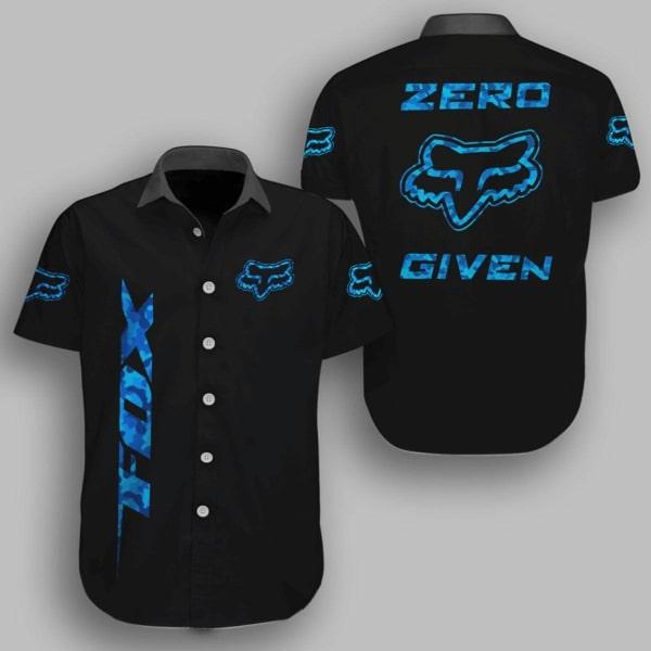 Fox racing metal zero given hawaiian shirt - navy