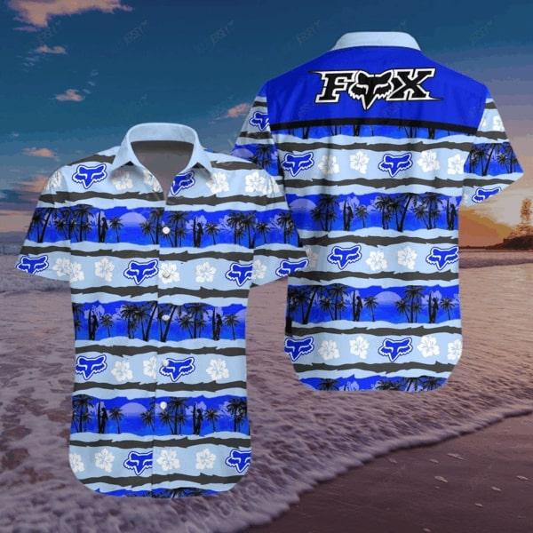 Fox racing motocross all over printed hawaiian shirt 3