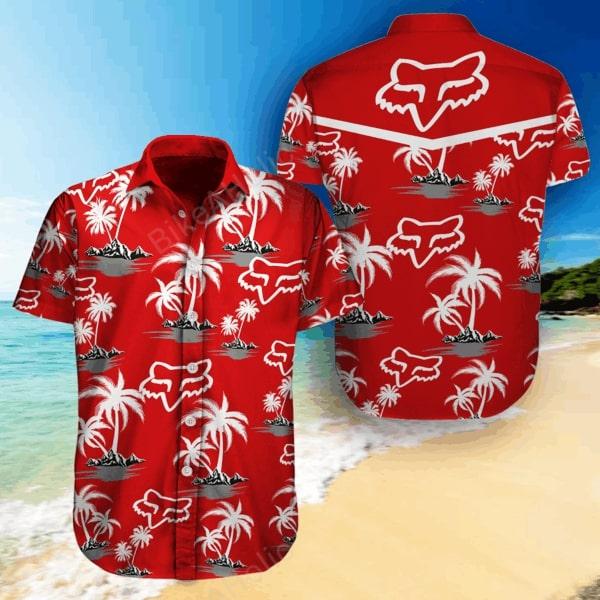 Fox racing sports all over printed hawaiian shirt 1
