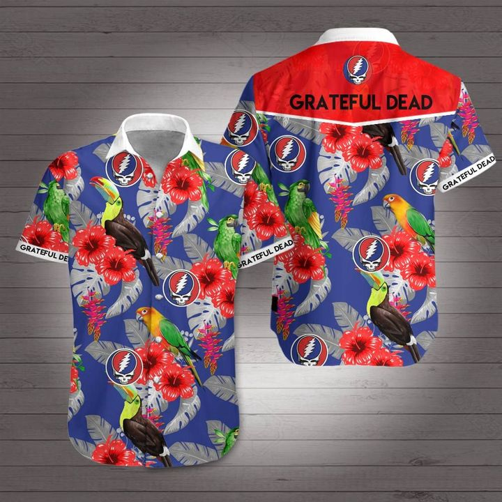 Grateful dead rock band hawaiian shirt 2