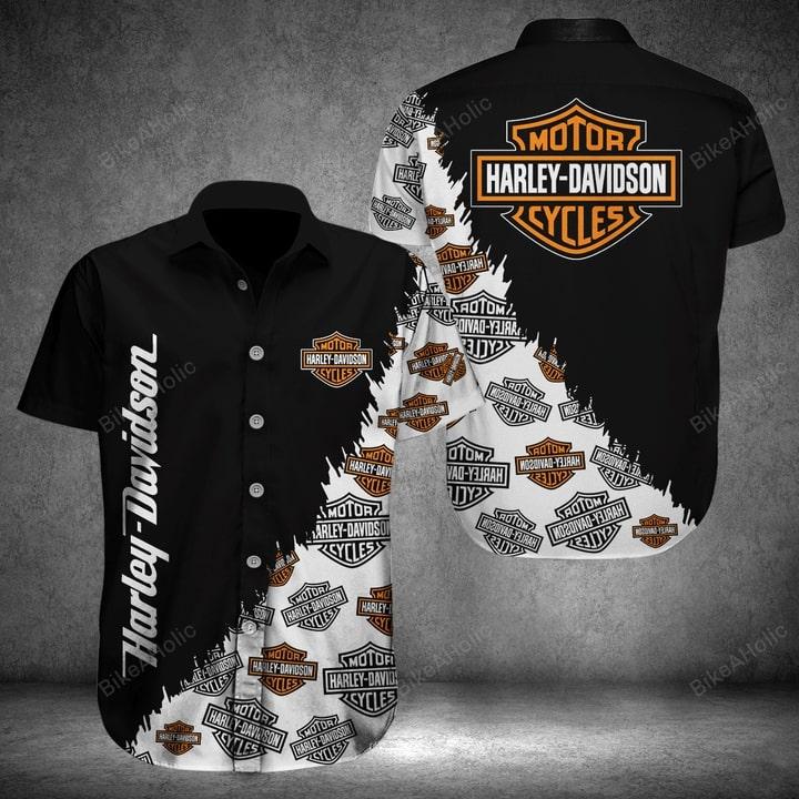 Harley-davidson all over printed hawaiian shirt 1