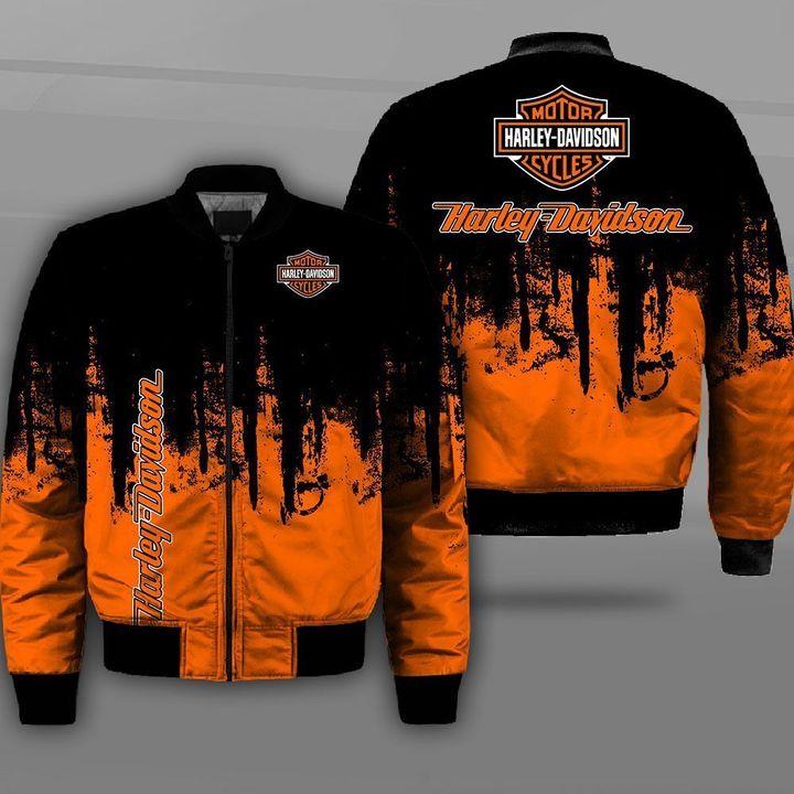 Harley-davidson motorcycle company logo full printing bomber