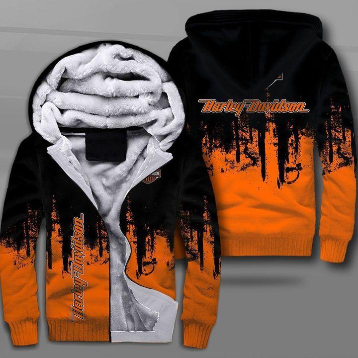 Harley-davidson motorcycle company logo full printing fleece hoodie