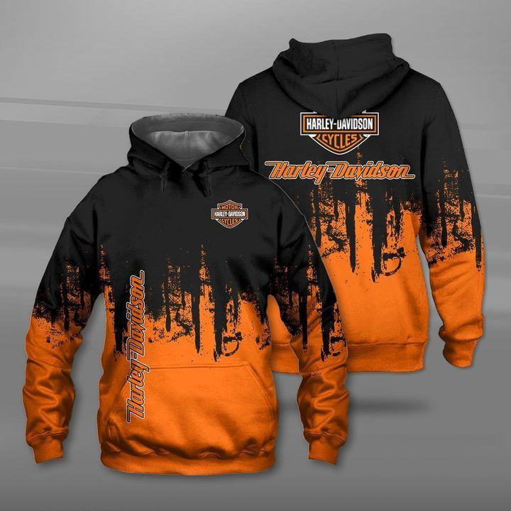 Harley-davidson motorcycle company logo full printing hoodie
