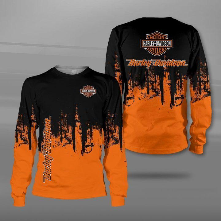 Harley-davidson motorcycle company logo full printing sweatshirt