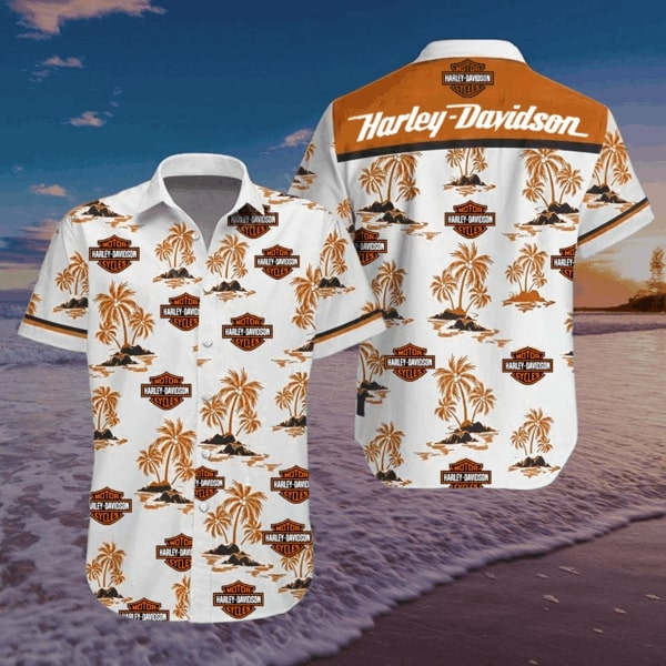 Harley-davidson motorcycle style hawaiian shirt 2