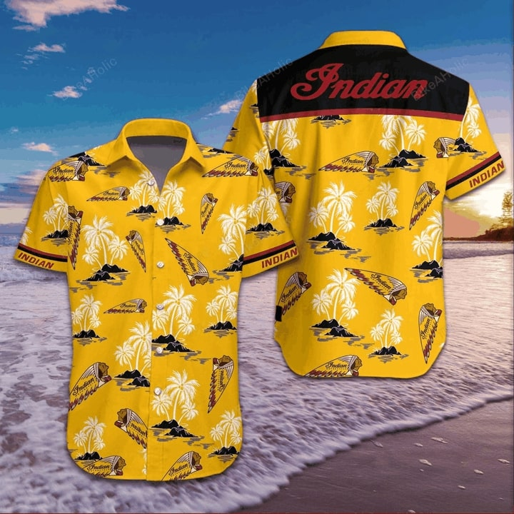 Indian motorcycle logo hawaiian shirt 1