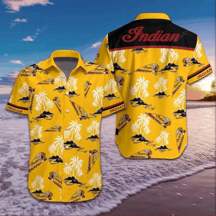 Indian motorcycle logo hawaiian shirt 4