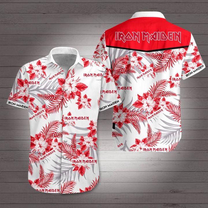 Iron maiden rock band hawaiian shirt 1