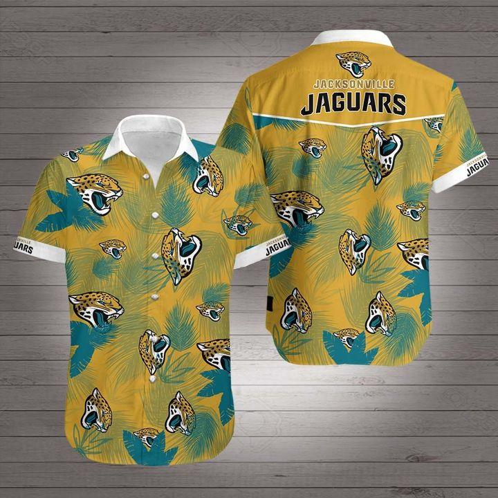Jacksonville jaguars team hawaiian shirt 1