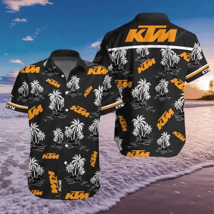 KTM sportmotorcycle hawaiian shirt 4