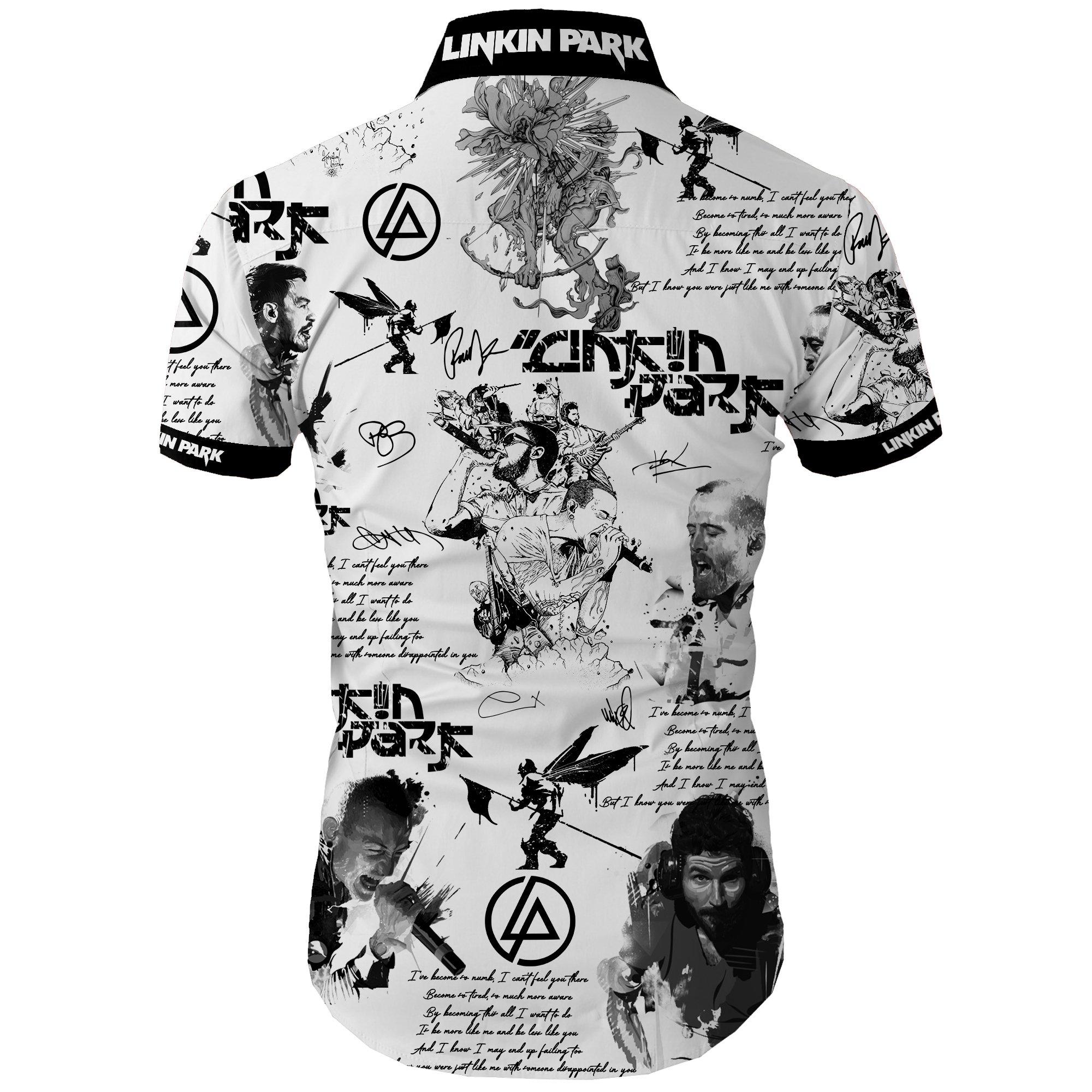 Linkin park all over printed hawaiian shirt 2