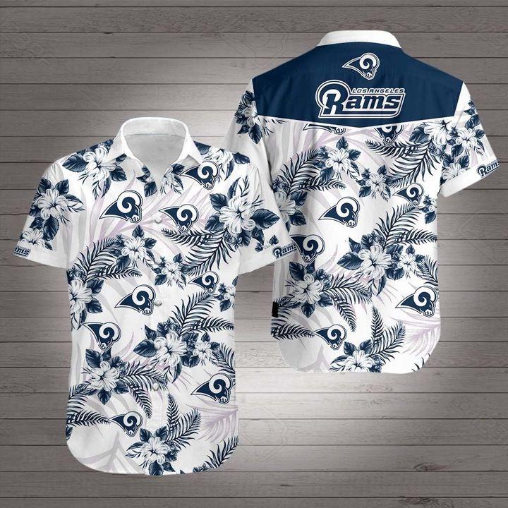 Los angeles rams team hawaiian shirt 1