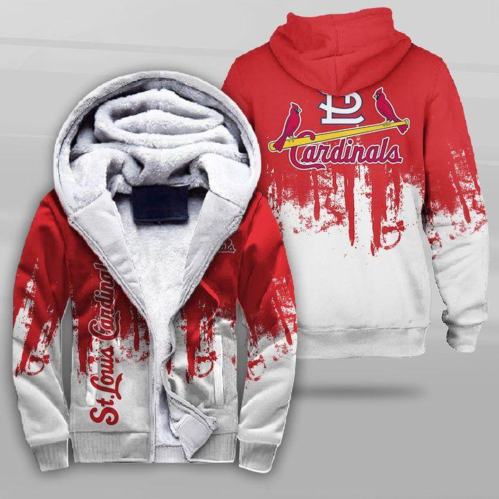 MLB st louis cardinals full printing fleece hoodie
