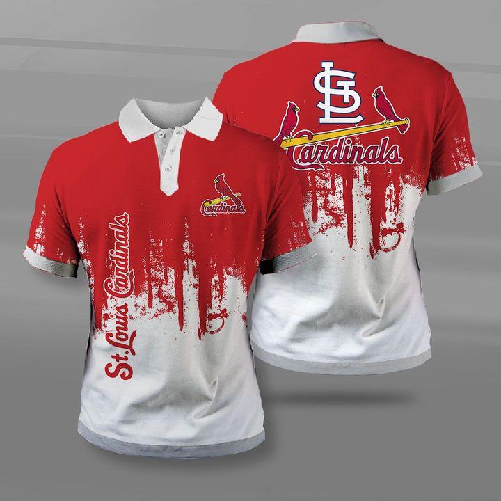 MLB st louis cardinals full printing polo