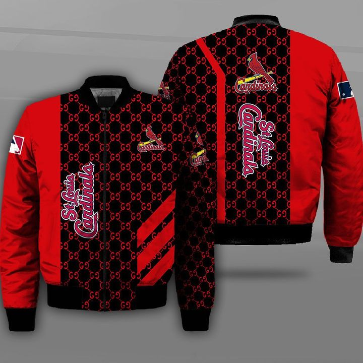 Major league baseball st louis cardinals full printing bomber