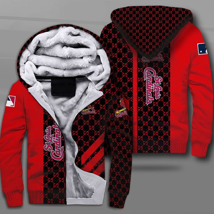 Major league baseball st louis cardinals full printing fleece hoodie