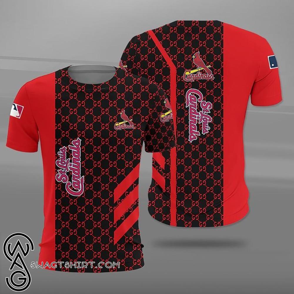 Major league baseball st louis cardinals full printing shirt