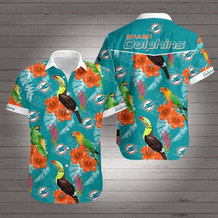 Miami dolphins hawaiian shirt 1