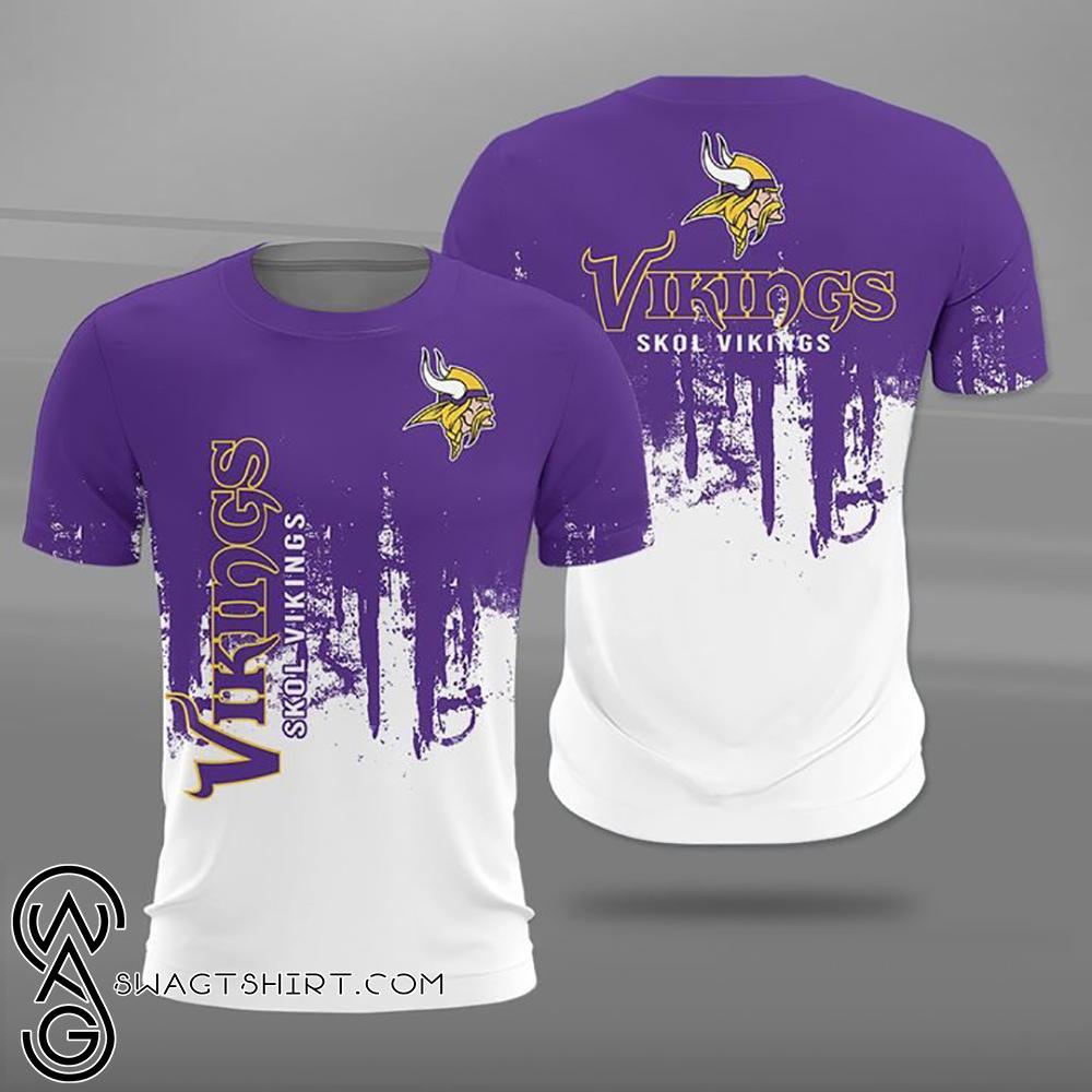 Minnesota vikings skol vikings full printing shirt