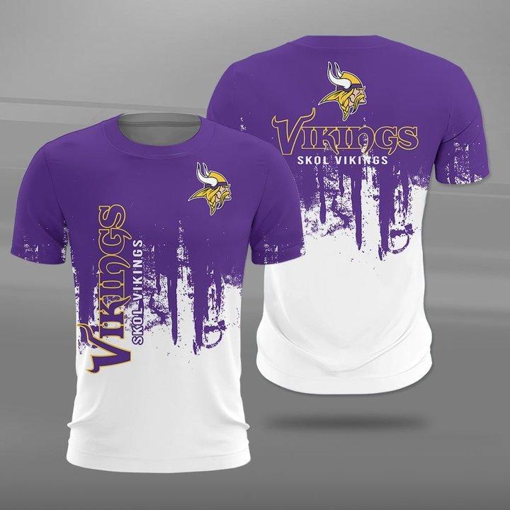 Minnesota vikings skol vikings full printing tshirt