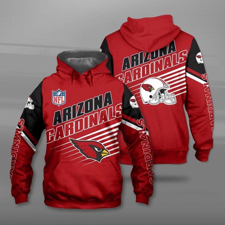 NFL arizona cardinals full printing hoodie