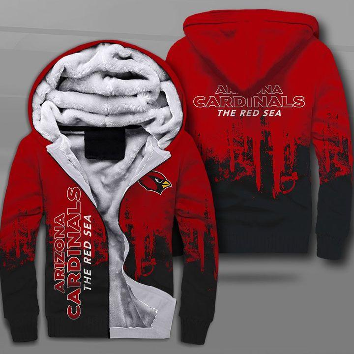 NFL arizona cardinals the red sea full printing fleece hoodie