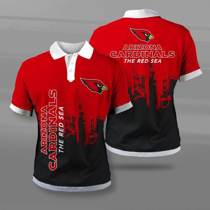 NFL arizona cardinals the red sea full printing polo