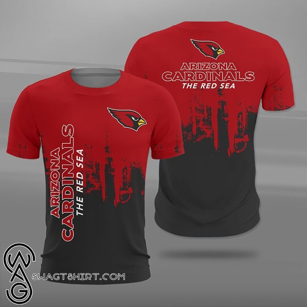 NFL arizona cardinals the red sea full printing shirt