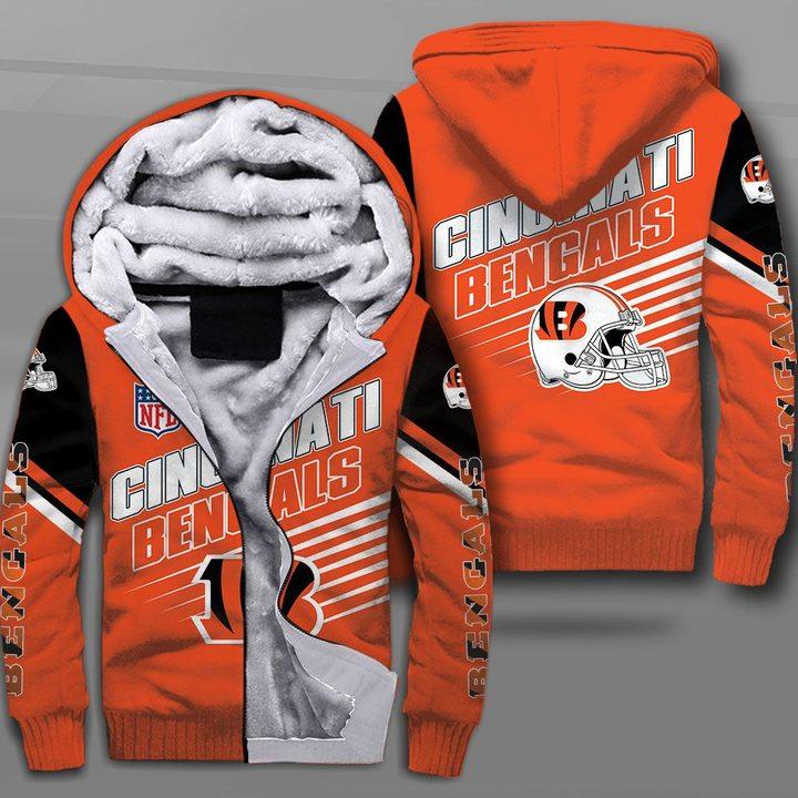 NFL cincinnati bengals team full printing fleece hoodie