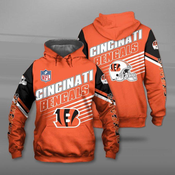 NFL cincinnati bengals team full printing hoodie