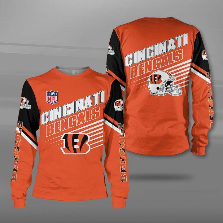 NFL cincinnati bengals team full printing sweatshirt