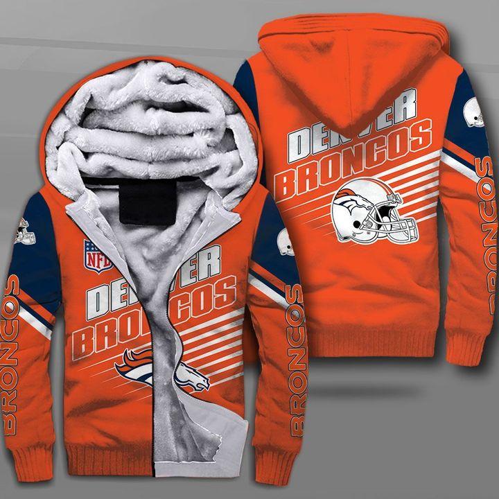 NFL denver broncos team full printing fleece hoodie