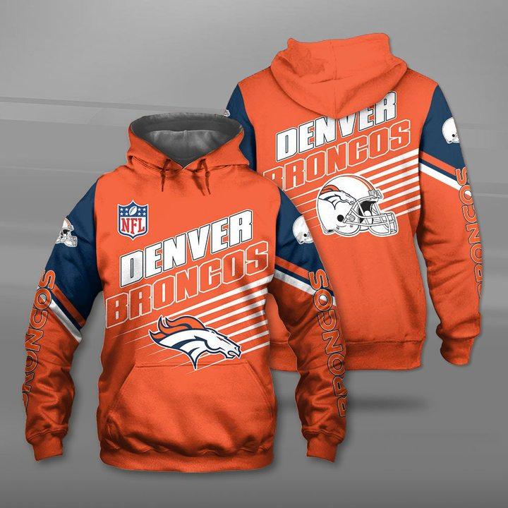 NFL denver broncos team full printing hoodie