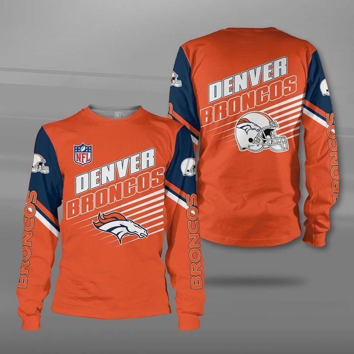 NFL denver broncos team full printing sweatshirt
