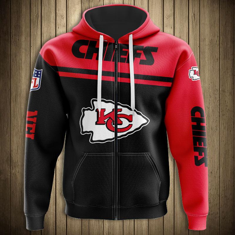 NFL kansas city chiefs team zip hoodie