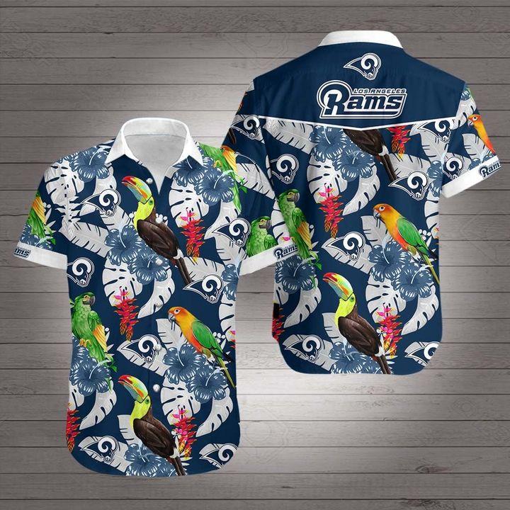 NFL los angeles rams hawaiian shirt 2