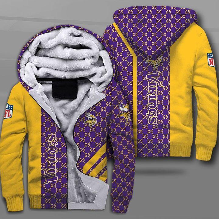 NFL minnesota vikings lava skull full printing fleece hoodie
