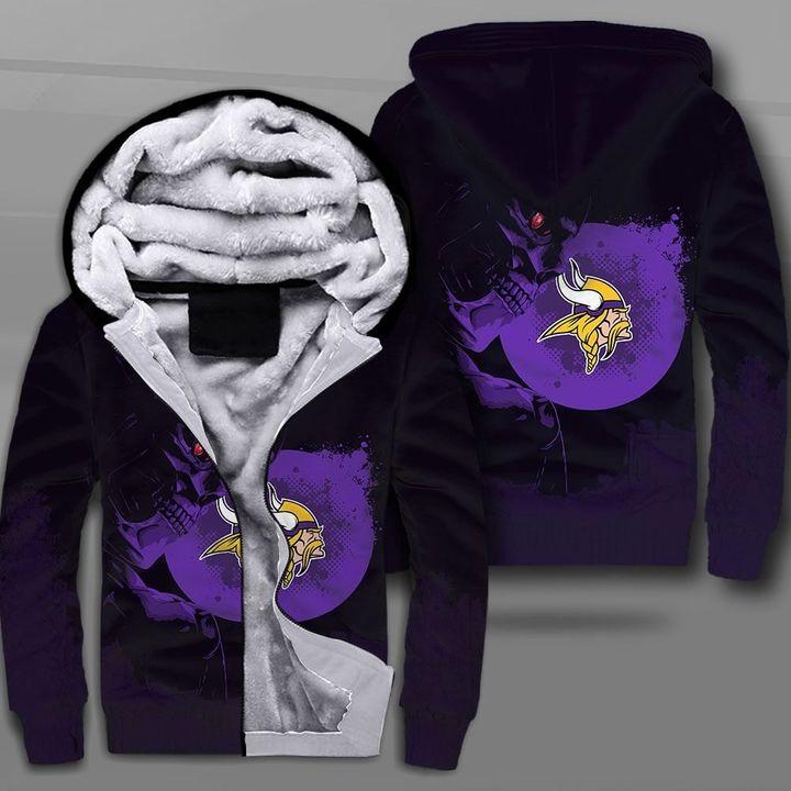 NFL minnesota vikings terminator full printing fleece hoodie