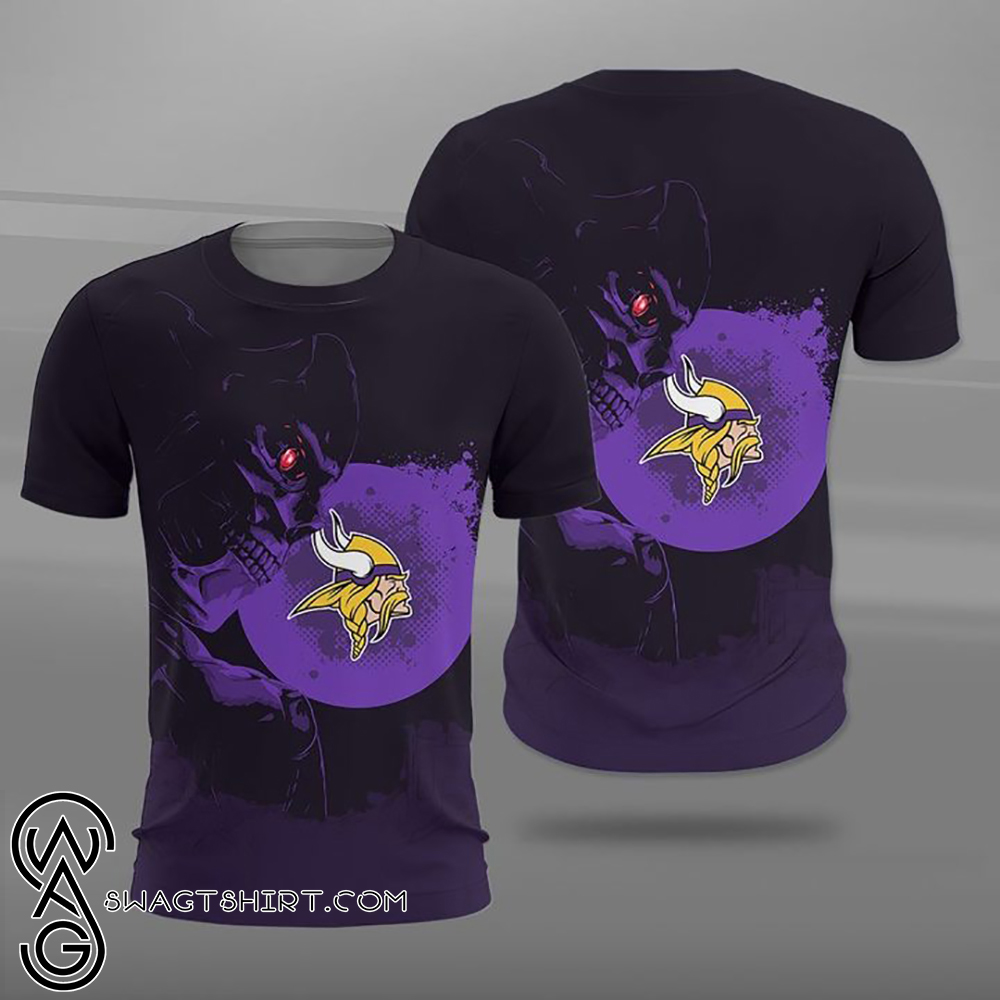NFL minnesota vikings terminator full printing shirt