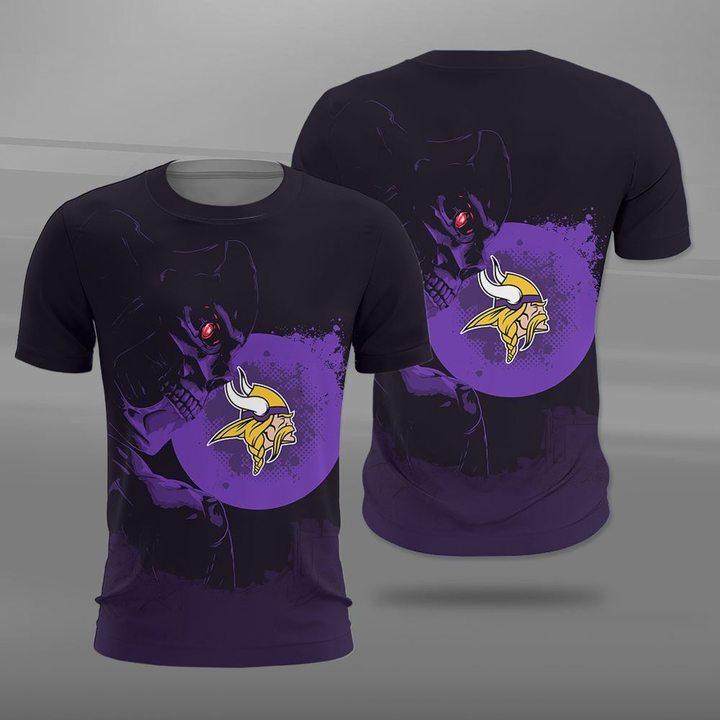 NFL minnesota vikings terminator full printing tshirt