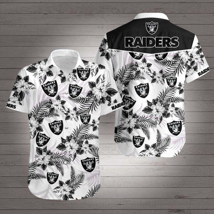 NFL oakland raiders hawaiian shirt 1