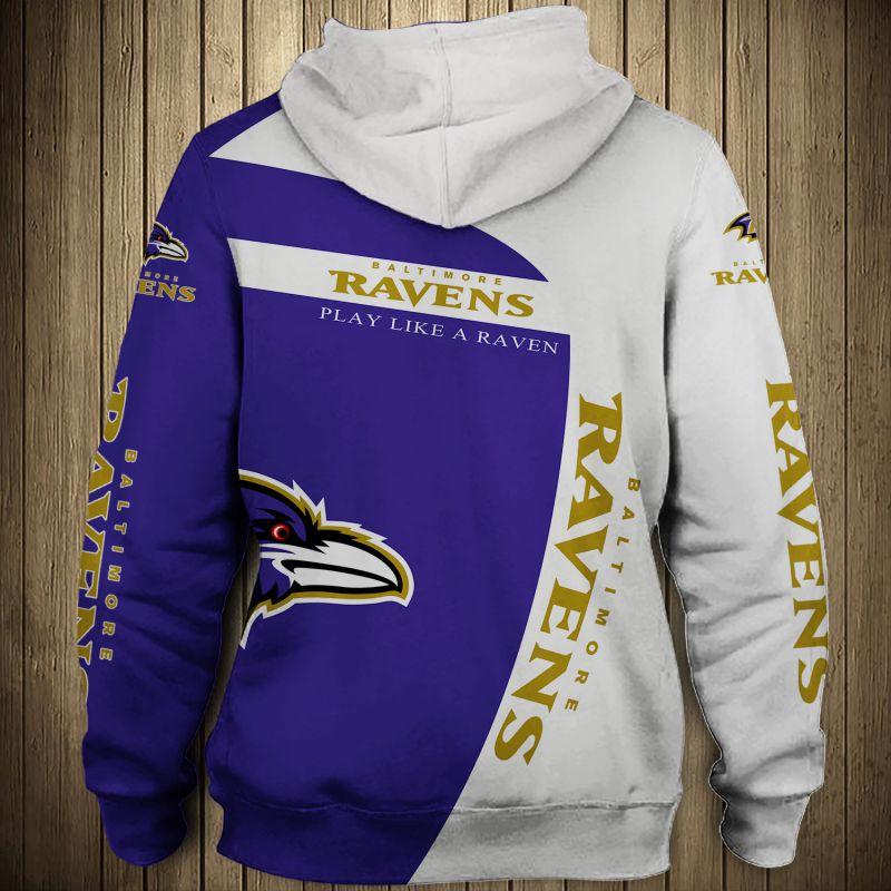 National football league baltimore ravens zip hoodie 1